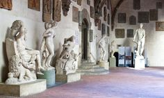 Statues in Florence Italy | Renaissance men ... sculptures in the Bargello courtyard. Photograph ...