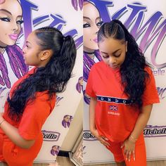Red Inward Braids for Rocking Queens - 20 Under Braids Ideas to Disclose Your Natural Beauty - The Trending Hairstyle Cute Ponytails, Ponytail Styles, Curly Hair Styles, Natural Hair Styles, Slicked Back Ponytail, Slick Ponytail, Under Braids, Weave Ponytail Hairstyles, Ponytail With Weave