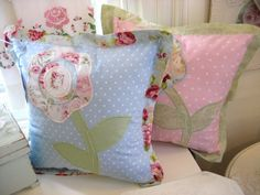 beautiful vintage pillows | My Whimsical Victorian Chic Cottage