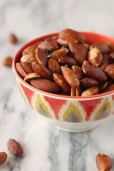 These Olive Oil Roasted Almonds are simple, and make a delicious snack!
