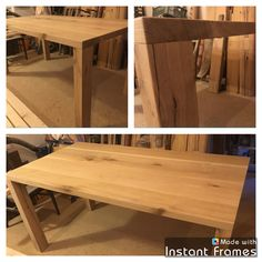 The massive table from oak.