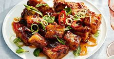 For a mouth-watering starter, you can't go past these sticky pork belly bites. Best of all they only take 15 minutes to make! Asian Recipes, Healthy Recipes, Hawaiian Recipes, Meat Recipes, Recipies, Lamb Recipes, Savoury Recipes, Dinner Recipes, Sticky Pork