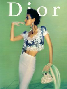 Shalom Harlow, Dior spring 1998 - thinking block coloured walls