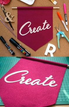 Use felt and Fabric Mod Podge to make a banner with any saying of your choice. This is perfect for a variety of occasions!