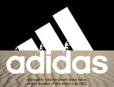 People Make Anti-Logos To Urge Sponsors To Withdraw From Qatar 2022 World Cup Adidas