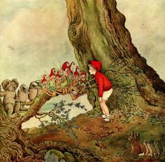 Ida Rentoul Outhwaite - 'Potty talks to the Forest Creatures' from ''The Enchanted Forest'' (1921)