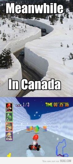 Canada vs Mario cart