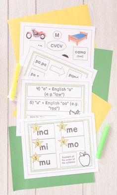 After YEARS OF OBSERVING BILINGUAL KINDER, I figured out how reading is taught in Spanish. This apraxia product CORRESPONDS TO THE METHOD READING IS TAUGHT IN SPANISH in bilingual kindergarten! PRODUCT CONTENTS: 1) CV 2) CV CV moving to CVCV 3) CVCV 4) CVC & CVV 5) VCV CONSONANTS INCLUDED I: M -- ma me mi mo mu P -- pa pe pi po pu L -- la le li lo lu S -- sa se si so su N -- na ne ni no nu D -- da de di do du T -- ta te ti to tu C -- ca que qui co cu F -- fa fe fi fo fu B -- ba be bi bo bu