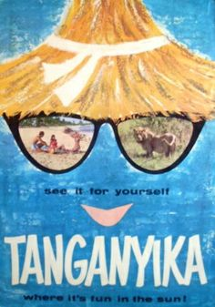 Tanganyika Travel Poster 1960s