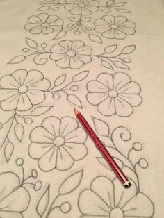 Table Bed runner embroidered P