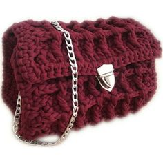Handmade Crochet Shoulder Bag Handmade Accessories, Fashion Accessories, Crochet Shoulder Bags, Embroidery Bags, Cosmetic Case, Handmade Bags, Chanel Boy Bag, Jewels, Handmade Handbags