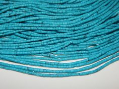 New Arrival Turquoise Smooth Beads Tube Shape 12Inches by SRBEADS