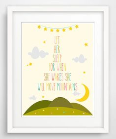 Another great find on #zulily! 'Let Her Sleep' Child's Writing Giclée Print by Finny and Zook #zulilyfinds