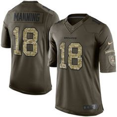 7490e42a41c Men s Denver Broncos Peyton Manning Nike Green Salute To Service Limited  Jersey Eric Berry