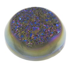 druzy quartz | Round 20mm Window Druzy Quartz Cabochon Stone, Rainbow