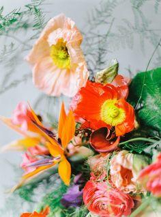 Brautstrauß orange Orange flower centerpiece Haarschmuck: BelleJulie Fotos: Collect Moments Haare & Make-Up: Brautzauber Brautkleid : Soeur Coeur via Hey Love Blumen: Blumengraaf