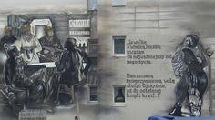 wykleci graffiti mural blok aleja murali krakow 4 life