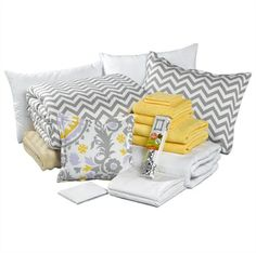 Picture of Dorm Bundle - Gray Chevron - Made in USA... Love the Chevron pillows, so cute and simple!