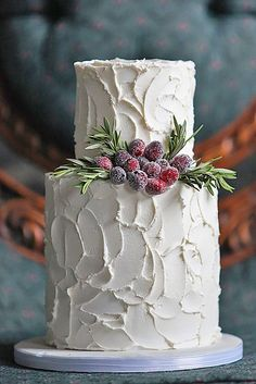 18 Fabulous Winter Wedding Cakes We Adore ❤ See more: http://www.weddingforward.com/winter-wedding-cakes/ #weddings #cakes                                                                                                                                                                                 More