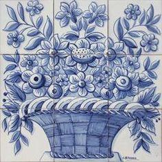 Portuguese decorative tiles Panel