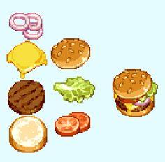 Pixel Art Food, Cool Pixel Art, Pixel Art Games, New Media Art, New Art, Cute Food Art, Isometric Art, Food Drawing, Community Art