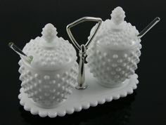 Pretty Vintage FENTON Milk Glass White by ItsJustTheBeesKnees, $39.50 Brought to you by http://www.etsy.com/shop/UncommonRecycables