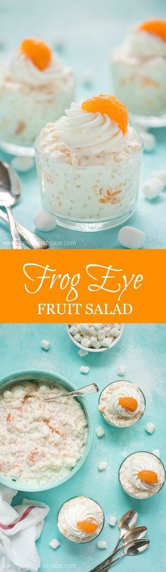 Serve Frog Eye Fruit Salad at your next barbecue for a yummy, sweet, fruit filled side dish that will be the talk of the party.