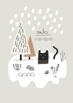 Miko Snow / Affiche Poster~ Mathilde Aubier Illustrations