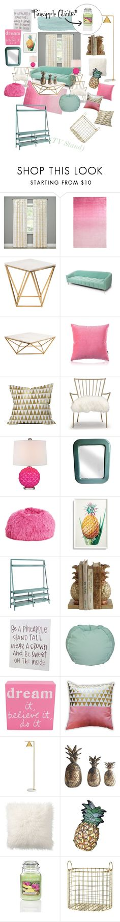 """Pineapple Cilantro"" by meechsmommy ❤ liked on Polyvore featuring interior, interiors, interior design, home, home decor, interior decorating, Threshold, Designers Guild, Nuevo and Mint Velvet"