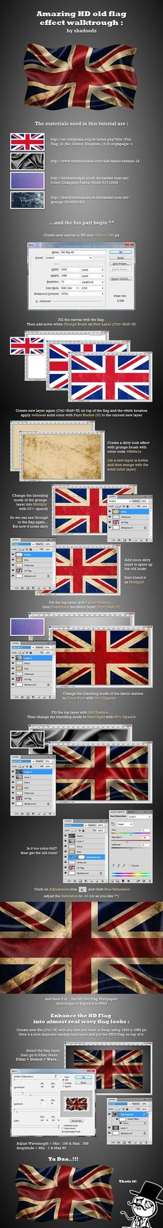 A task from my boss to create dirty look of the flag for use later in an apps that we currently develop. Actually he ask with no wavy effect, but some of my friends wants me to create the wavy one for lessons.so the tutorial idea is came out of my mind.…
