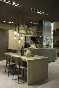Cucina in alluminio con isola OPERA | Cucina con isola by Snaidero