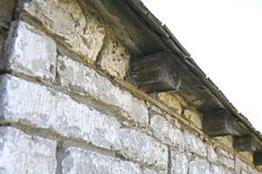 The rustic roofline of the stone cabin-turned-kitchen at the Jack Jouett House in Versailles, Kentucky.
