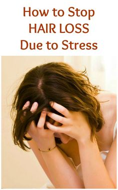 Hair loss treatment Hair will usually grow back on its own once the source of stress has been removed, but there are several things you can do to stop hair loss due to stress. Oil For Hair Loss, Stop Hair Loss, Stress And Hair Loss, Hair Loss Help, Hair Loss Causes, Prevent Hair Loss, Anti Hair Loss, Male Pattern Baldness, Hair Loss Shampoo