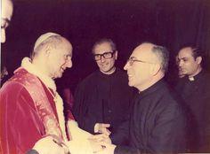 """""""Beatification of Joseph Moscati. Paul VI with the jesuits Molinari, Marranzini and Tripodoro"""""""