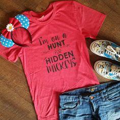 Hidden Mickey Disney Shirt Disney Tee Disney by OnceUponAMickeyTee
