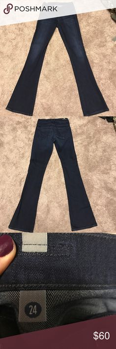 Citizens on Humanity Flare jeans Citizens of Humanity flare leg jeans. Like new condition. Have only been worn once. Size 24. They are a dark wash. Citizens of Humanity Jeans