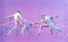 The only Leroy Neiman picture I could find of fencing.