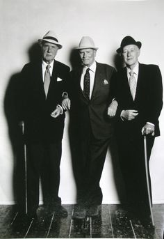 Sir Ralph Richardson, Lord Laurence Olivier & Alec Guinness by Terence Donovan,1980