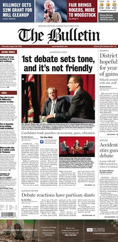Thursday, August 28, 2014 - Subscribe to The Bulletin today: http://www.norwichbulletin.com/subscribenow #ctnews #newlondoncounty #windhamcounty