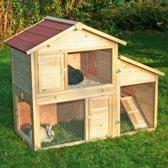 Une cage pour lapin très mignonne pour le jardin : une bonne façon de faire découvrir la nature et les animaux à bébé !