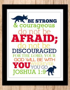 Joshua 1:9 Scripture Wall Art Subway Style by MoonshyneDesigns
