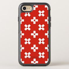#Switzerland Flag with  Heart pattern OtterBox Symmetry iPhone 8/7 Case - #country gifts style diy gift ideas