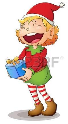Ilustraci�n de un duende de Navidad photo