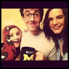 Evanna Lynch with Brian Rosenthal and Devin Lytle from A Very Potter Musical