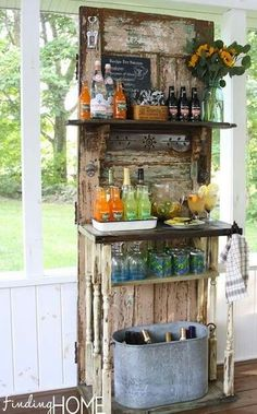 Rustic diy bar
