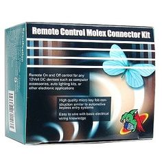 Remotely control any 12V DC device with the Logisys Remote Control Molex Connector Kit with two remote keychains. Wireless control of lights, fans, landscaping, lighting, and other 12V DC peripheral devices with the click of a button.