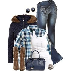 BlueFlannel, created by hollyhalverson on Polyvore