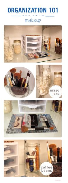 Make up Organization ideas… I like the coffee beans