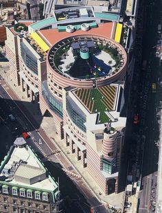 """Following a protracted preservation campaign, James Stirling's No 1 Poultry has been granted listed status as an """"unsurpassed example of commercial postmodernism""""."""