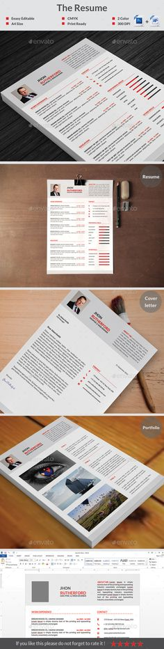 The Resume Template #design Download: http://graphicriver.net/item/the-resume/12644154?ref=ksioks